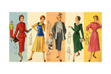 1950s UK Dress Patterns Magazine Plate Giclee Print