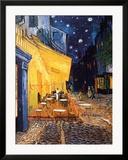Den udendørs café på Place du Forum, Arles, om natten, ca.1888 Kunst af Vincent van Gogh