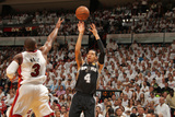Miami, FL - June 20: Danny Green and Dwyane Wade Photographic Print by Issac Baldizon