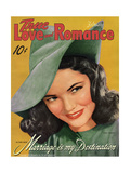 True Love & Romance Vintage Magazine - February 1942 - Gene Tierney - Marriage Is My Destination Giclee Print