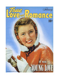 True Love & Romance Magazine - February 1943 Giclee Print