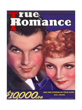 True Romance Vintage Magazine - April 1936 - Claudette Colbert & Fred Macmurray Giclee Print by Georgia Warren