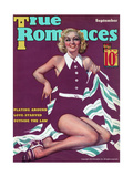 True Romances Magazine - November 1935 - Georgia Warren Was a Successful Magazine Illustrator Giclee Print by Georgia Warren