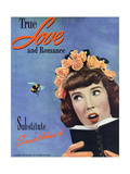 True Love & Romance Magazine - April 1947 Giclee Print by Charles E. Kulhawy