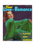 True Love & Romance Magazine - January 1941 - Maureen O'Hara Giclee Print by Rio Reamy Studios