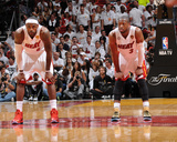 Miami, FL - June 20: LeBron James and Dwyane Wade Photo