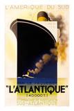 L'Atlantique 1931 Plakat af Adolphe Mouron Cassandre