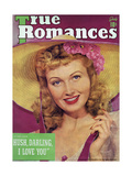 True Romances Magazine - July 1941 - June Lang Giclee Print by Tom Kelley