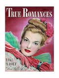 True Romances Magazine - February 1947 - Hazel Mcferrin Model Giclee Print