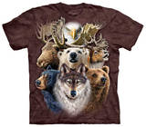 Northern Wildlife Collage Shirts