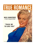 True Romance Vintage Magazine - January 1957 - Marilyn Monroe Giclee Print