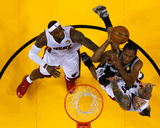 Mike Ehrmann - Miami, FL - June 20: Kawhi Leonard, Chris Andersen and LeBron James - Photo