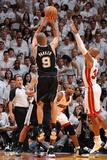 Miami, FL - June 20: Tony Parker and Ray Allen Photographic Print
