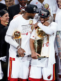 Miami, FL - June 20: LeBron James and Dwyane Wade Photographic Print