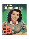 True Romance Vintage Magazine - November 1941 - Ann Rutherfurd Paramount Posters by A.R. McCowen