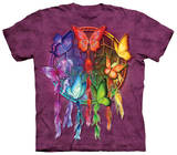 Rainbow Butterfly Dreamcatcher T-shirts
