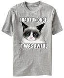 Grumpy Cat - I Had Fun Once It Was Awful T-shirts