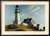 Lighthouse at Two Lights Affiches par Edward Hopper