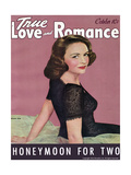 True Love & Romance Vintage Magazine - October 1942 - Donna Reed Giclee Print