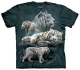 White Tiger Collage Tshirts