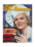 True Love & Romance Magazine - September 1943 Giclee Print by William Ritter