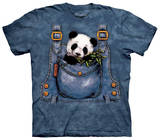 Youth: Panda In Overalls T-Shirt