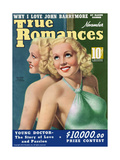 True Romances Magazine - September 1941 - Betty Grable Print by A.R. McCowen