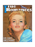 True Romances Vintage Magazine - September 1941 - Georgia Carroll Warner Bros Giclee Print by Richard Cardiff