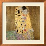 El beso, 1907-08 Lámina giclée enmarcada por Gustav Klimt