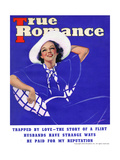 True Romance Vintage Magazine - September 1936 - Trapped by Love Prints by Georgia Warren