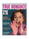 True Romance Vintage Magazine - November 1957 - I'Ll Pretend I Love You Poster