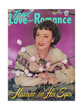 True Love & Romance Magazine - May 1942 - Laraine Day Giclee Print
