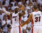 Mike Ehrmann - Miami, FL - June 20: LeBron James and Shane Battier - Photo