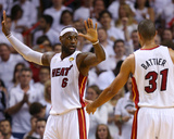 Miami, FL - June 20: LeBron James and Shane Battier Photographic Print by Mike Ehrmann