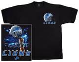 NFL: Lions Logo Sky Helmet T-shirts