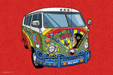 Summer of Love VW Van Art Print Poster Photo