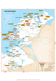 Michelin Official Northwest Ireland Region Map Art Print Poster Prints