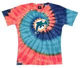 Juniors: Dolphins Logo Spiral V-Dye T-shirts