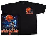 NFL: Browns Logo Sky Helmet T-skjorte