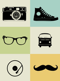Hipster Mix Poster Posters by  NaxArt