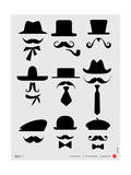 Hats and Mustaches Poster I Art by  NaxArt