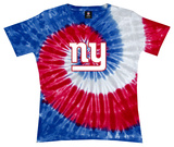 Juniors: NFL: Giants Logo Spiral V-Dye Shirts