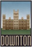 Downton Retro Travel Poster Affiche