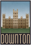 Downton Retro Travel Poster Print