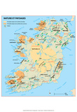 Michelin Official Ireland French Map Art Print Poster Posters