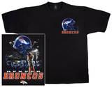 NFL: Broncos Logo Sky Helmet T-skjorte