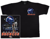 NFL: Broncos Logo Sky Helmet T-Shirt