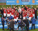Manchester United Premier League Champions Glossy Photograph Photo