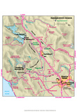 Michelin Official Russian River Area Map Art Print Poster Poster