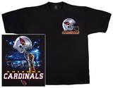 Cardinals Logo Sky Helmet T-shirts